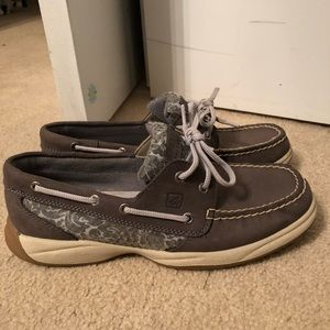 NWOB Women's 8 Gray Sperry-Topsider boat shoes